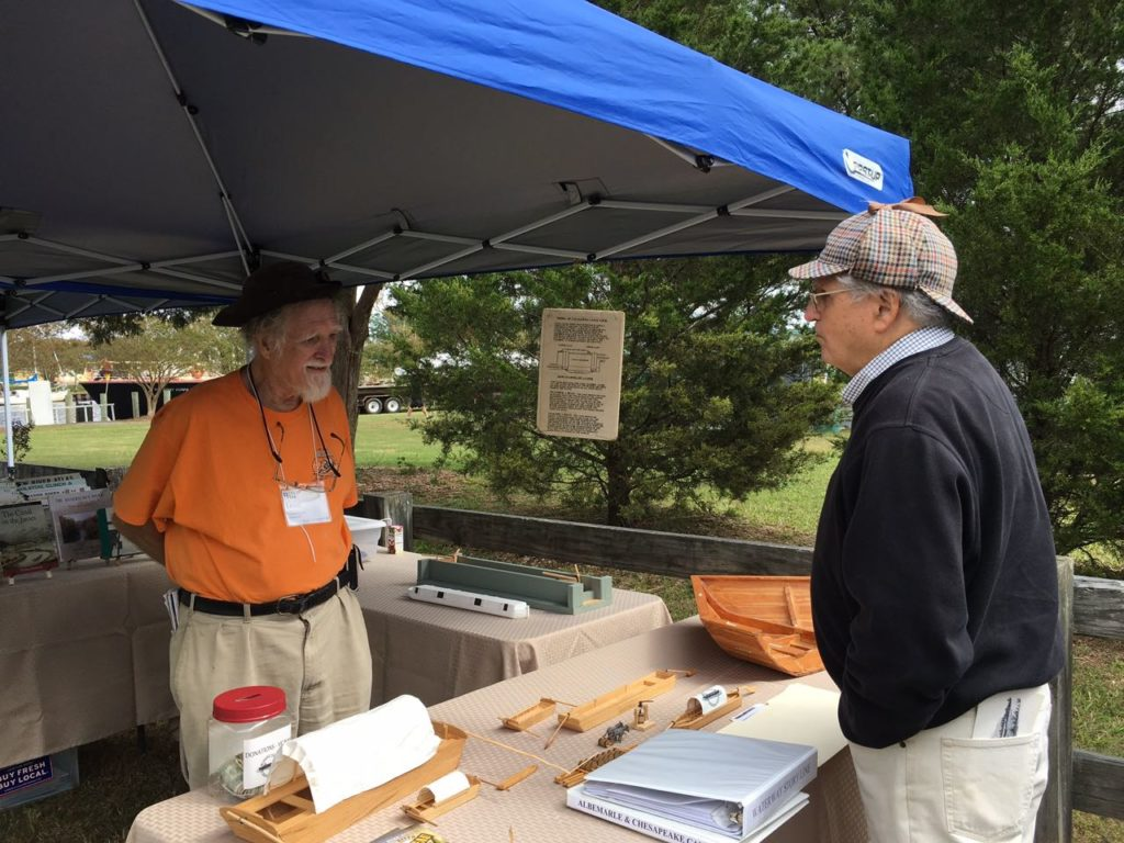 Dr. Bill Trout at the Great Bridge Waterways Heritage Festival, 2016.